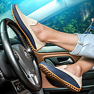 お買い得  メンズデッキシューズ-男性用 靴 レザーレット 春 夏 コンフォートシューズ ボート用シューズ のために カジュアル アウトドア ホワイト ブルー