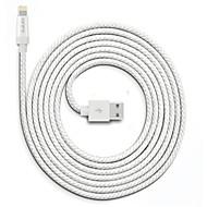 billige -Belysning USB-kabeladapter Hurtig opladning Højhastighed Kabel Til iPhone 300 cm Nylon