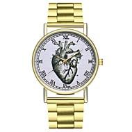 billige Quartz-Dame Kinesisk Kronograf / Stor urskive / Punk Rustfrit stål Bånd Tegneserie / Minimalistisk Guld