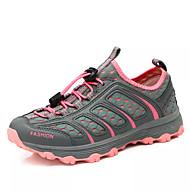 hesapli Dağ Yürüyüşü-Kadın's Ayakkabı PU Bahar / Sonbahar Rahat Atletik Ayakkabılar Dağ Yürüyüşü Düz Taban Yuvarlak Uçlu Dış mekan için Gri / Koyu Gri / Açık