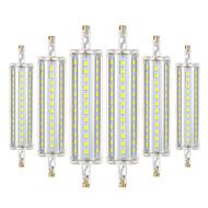 billige Kornpærer med LED-YWXLIGHT® 6pcs 8W 700-800lm R7S LED-kornpærer 72 LED perler SMD 2835 Mulighet for demping Dekorativ Varm hvit Kjølig hvit Naturlig hvit