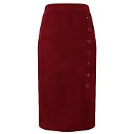 Dame Basale A-linje Nederdele Ensfarvet