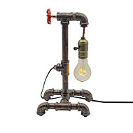 billige Lamper-retro vannrør bord lamper vintage metall stue soverom lysarmatur hotell klubber nattlampe