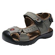 男の子 靴 レザー 夏 コンフォートシューズ サンダル のために グレー / Brown