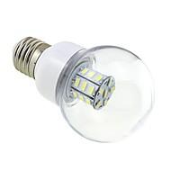 billige Globepærer med LED-4W 3000-3500 lm E26/E27 LED-globepærer G60 27 leds SMD 5730 Varm hvit DC 24V AC 24V AC 12V DC 12 V