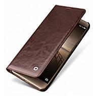 billiga Mobil cases & Skärmskydd-fodral Till Huawei Mate 9 Pro Mate 10 pro Korthållare Stötsäker Fodral Ensfärgat Hårt Äkta Läder för Mate 9 Pro