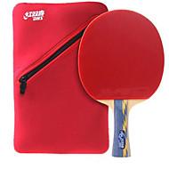 baratos Tenis de Mesa-DHS® E506 Ping Pang/Tabela raquetes de tênis Madeira Borracha 5 Estrelas Cabo Comprido Espinhas