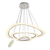 graduation sans électrode moderne acrylique triangle simplicité led pendentif lumières trois anneaux salon restaurant