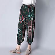 Žene Jednostavan Boho Harem hlače Hlače Cvjetni print