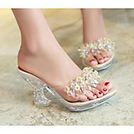 Žene Cipele Koža životinjskog podrijetla Proljeće Ljeto Udobne cipele Sandale Wedge Heel za Kauzalni Zlato Crn Pink