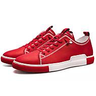 للرجال PU ربيع / خريف مريح أحذية رياضية أبيض / أسود / أحمر