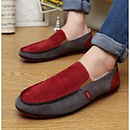 baratos Sapatos Masculinos-Homens Mocassim Couro Ecológico Verão Mocassins e Slip-Ons Marron / Vermelho / Azul