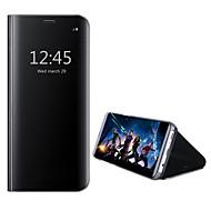 billiga Mobil cases & Skärmskydd-fodral Till Huawei Honor View 10(Honor V10) med stativ Spegel Fodral Ensfärgat Hårt PU läder för Huawei Honor View 10