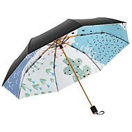 voordelige Huisinrichting-Stof Dames Zonnig en Rainy / Windbestendig Vouwparaplu