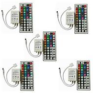 billige belysning Tilbehør-5pcs Strip Light Tilbehør / 44keys Plast IR fjernkontroll for RGB LED Strip Light