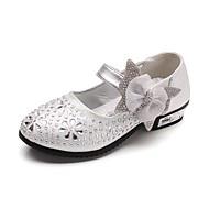 baratos Sapatos de Menina-Para Meninas Sapatos Courino Primavera Conforto / Sapatos para Daminhas de Honra Saltos Pedrarias / Laço / Gliter com Brilho para