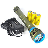 cheap Flashlights & Camping Lanterns-LED Flashlights / Torch Handheld Flashlights/Torch LED 10000lm lm 7 Mode LED Professional Anti-Shock Waterproof Wearproof