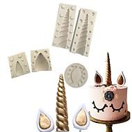 baratos Moldes para Bolos-Ferramentas bakeware Silicone 3D / Natal / Faça Você Mesmo para bolo Moldes de bolos 5pçs