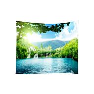 billige Veggdekor-Hage Tema Landskap Veggdekor 100% Polyester Moderne Veggkunst, Veggtepper Dekorasjon