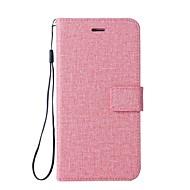 billiga Mobil cases & Skärmskydd-fodral Till Sony Xperia XZ Premium Xperia XZ1 Compact Korthållare Plånbok med stativ Lucka Fodral Ensfärgat Hårt PU läder för Xperia XZ1