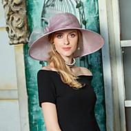 Lin / Fjäder Kentucky Derby Hat / fascinators / hattar med Rosett(er) 1st Bröllop / Fest / afton Hårbonad