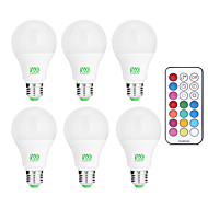 cheap LED Bulbs-YWXLIGHT® 6pcs 10W 600-1000lm E26 / E27 LED Globe Bulbs 12 LED Beads SMD Dimmable Decorative Remote-Controlled Cold White RGB 85-265V