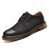 お買い得  メンズオックスフォードシューズ-男性用 靴 ピッグスキン 春 / 秋 コンフォートシューズ オックスフォードシューズ Brown / ダークグレー / キャメル