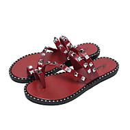 levne Pantofle-Běžný Pantofle Dámské pantofle Polyester PVC kůže Jednobarevné