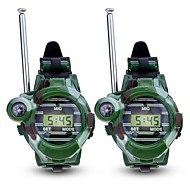 cheap Camping Tools, Carabiners & Ropes-Walkie Talkie Outdoor Exercise Camping / Hiking / Caving Multi-function Wrist Watch Compass Plastic Plastic Shell 2 pcs