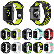 billiga Smart klocka Tillbehör-Klockarmband för Apple Watch Series 3 / 2 / 1 Apple Sportband Silikon Handledsrem