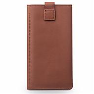 billiga Mobil cases & Skärmskydd-fodral Till Huawei P9 Lite P9 Korthållare Plånbok Stötsäker Lucka Fodral Ensfärgat Hårt Äkta Läder för Huawei P9