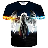 Χαμηλού Κόστους -Ανδρικά T-shirt Γεωμετρικό Στρογγυλή Λαιμόκοψη / Κοντομάνικο