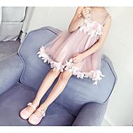 Para Meninas Simples Activo Feriado Sólido Sem Manga Vestido