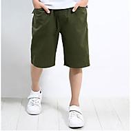Dječaci Poliester Jednobojni Dnevno Ljeto Kratke hlače Jednostavan Djetelina Navy Plava Svjetloplav Žutomrk