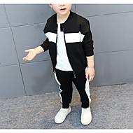 Baby Drenge Simple Farveblok Langærmet Tøjsæt