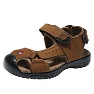tanie Obuwie chłopięce-Dla chłopców Obuwie Skórzany Lato Wygoda Sandały na Szary / brązowy