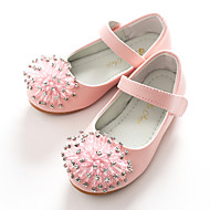 tanie Obuwie dziewczęce-Dla dziewczynek Obuwie Derma Wiosna Baleriny / Buty dla małych druhen Buty płaskie Brokat / Tasiemka na Biały / Różowy