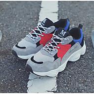 Homens sapatos Camurça Inverno Outono Conforto Tênis para Casual Ao ar livre Preto Cinzento