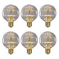 billige Globepærer med LED-BRELONG® 6pcs 2.5W 300 lm E26/E27 LED-globepærer 47 leds SMD Dekorativ Varm hvit 220V-240V