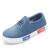 tanie Obuwie dziewczęce-Dla dziewczynek Dla chłopców Buty Płótno Wiosna Jesień Comfort Mokasyny i pantofle na Casual Dark Blue Light Blue