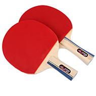 baratos Tenis de Mesa-DHS® E2F2 Ping Pang/Tabela raquetes de tênis Madeira Borracha Cabo Curto Cabo Comprido Espinhas