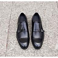 baratos Sapatos Masculinos-Homens Pele Napa / Pele Primavera / Outono Conforto Tamancos e Mules / Mocassins e Slip-Ons Preto / Café