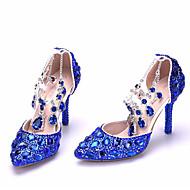 abordables Talons pour Femme-Femme Chaussures Paillette Brillante Printemps / Automne Confort / Escarpin Basique Chaussures à Talons Talon Aiguille Or / Bleu royal