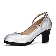 baratos Sapatilhas de Dança-Mulheres Sapatos de Dança Moderna Pele Napa Têni Salto Robusto Personalizável Sapatos de Dança Preto / Prata / Vermelho / Profissional