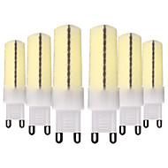 billige Bi-pin lamper med LED-YWXLIGHT® 6pcs 7W 600-700lm G9 E11 E17 E12 LED-lamper med G-sokkel T 80 LED perler SMD 5730 Mulighet for demping Dekorativ Varm hvit