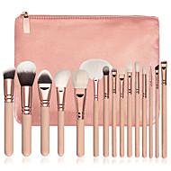 15pcs Make-up pensler Professionel Brush Sets / Rougebørste / Øjenskyggebørste Syntetisk Hår Professionel / Fuld Dækning Træ
