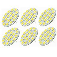 baratos Luzes LED de Dois Pinos-SENCART 6pcs 5W 540lm G4 Luminárias de LED  Duplo-Pin T 18 Contas LED SMD 5730 Decorativa Branco Quente / Branco Frio 12-24V