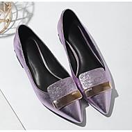 levne Dámské boty s plochou podrážkou-Dámské Boty Kůže Jaro Podzim Pohodlné Bez podpatku Kačenka pro Ležérní Stříbrná Bledě růžová