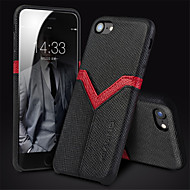 billiga Mobil cases & Skärmskydd-fodral Till Apple iPhone 6 iPhone 6 Plus Stötsäker Skal Linjer / vågor Hårt Äkta Läder för iPhone 6 Plus iPhone 6