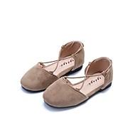 baratos Sapatos de Menina-Para Meninas Sapatos Couro / Couro Ecológico Verão Conforto Sandálias Velcro para Amarelo / Verde Tropa / Rosa claro